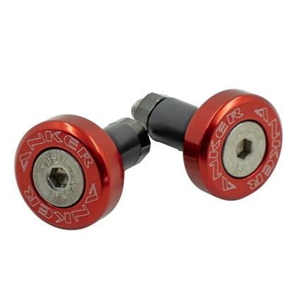 Acabamento de Guidão Anker Alumínio - Vermelho