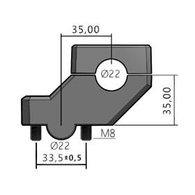 Adaptador de Guidão Move Anker 22MM Prime - Prata