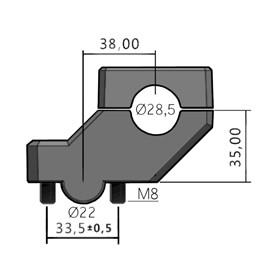 Adaptador de Guidão Move Anker 28MM Prime - Prata