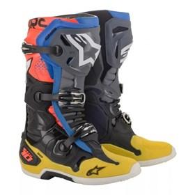 Bota Alpinestars Tech 10 - Preto Amarelo Azul