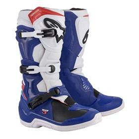 Bota Alpinestars Tech 3 - Azul Branco Vermelho