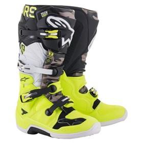 Bota Alpinestars Tech 7 - Preto Amarelo Branco