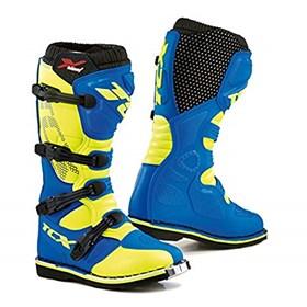 Bota TCX X-Blast 9670 - Azul Amarelo Flúor