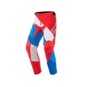 Calça Alpinestars Racer Venom 19 Infantil - Vermelho Branco Azul