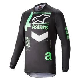 Camisa Alpinestars Fluid Chaser 21 - Preto Menta