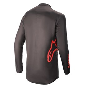 Camisa Alpinestars Fluid Chaser 21 - Preto Vermelho