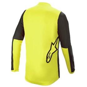 Camisa Alpinestars Fluid Tripple 21 - Preto Amarelo Vermelho