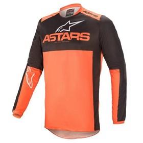Camisa Alpinestars Fluid Tripple 21 - Preto Laranja
