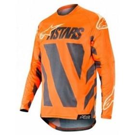 Camisa Alpinestars Racer Braap 19 - Anthracite Laranja Fluor