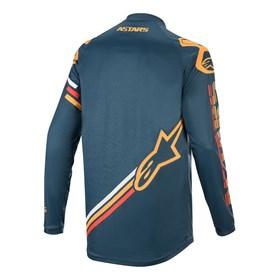Camisa Alpinestars Racer Braap 20 - Azul Marinho Laranja