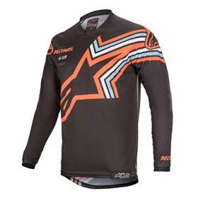 Camisa Alpinestars Racer Braap 20 - Cinza Laranja Flúor