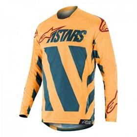 Camisa Alpinestars Racer Braap - Petróleo Tangerina Bordo
