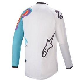 Camisa Alpinestars Racer Flagship 21 - Branco Off Multicolor