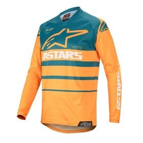 Camisa Alpinestars Racer Supermatic 20 - Petróleo Laranja