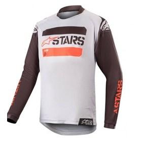 Camisa Alpinestars Racer Tactical 19 Infantil - Cinza Vermelho