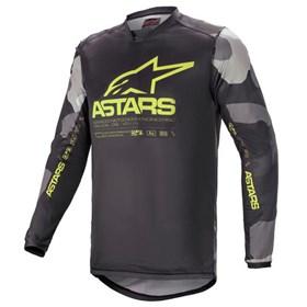 Camisa Alpinestars Racer Tactical 21 - Cinza Camo Amarelo Flúor