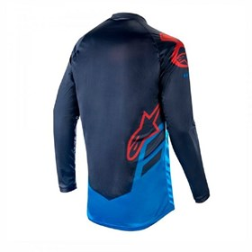 Camisa Alpinestars Racer Tech Compass 19 Azul Escuro/Azul Borgonha