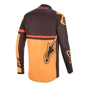 Camisa Alpinestars Racer Tech Compass - Preto Laranja