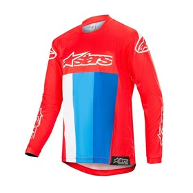 Camisa Alpinestars Racer Venom 19 Infantil - Vermelho Branco Azul