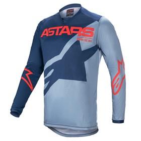 Camisa Alpinestars Recer Braap 21 - Azul Escuro Azul Powder Vermelho