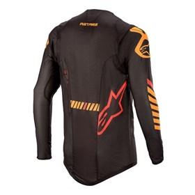 Camisa Alpinestars Supertech 20 - Preto Laranja Vermelho
