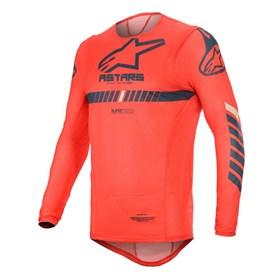 Camisa Alpinestars Supertech 20 - Vermelho Azul Marinho Branco