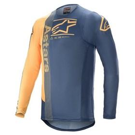 Camisa Alpinestars Supertech Foster 21 - Azul Laranja