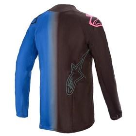 Camisa Alpinestars Techstar Phantom 21 - Preto Azul