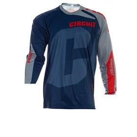 Camisa Circuit Kratos - Azul Cinza