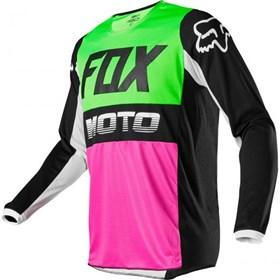Camisa Fox 180 Fyce Multi - Verde Rosa