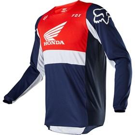 Camisa Fox 180 Honda - Azul Vermelho