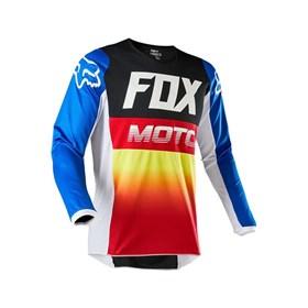 Camisa Fox Infantil 180 Fyce - Azul Vermelho