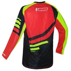 Camisa Ims Sprint - Preto Vermelho Flúor