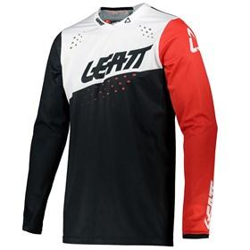 Camisa Leatt Moto 4.5 Lite Ice - Preto Branco