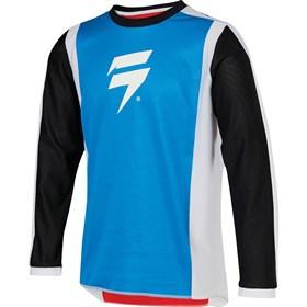 Camisa Shift Infantil Whit3 Race 2 - Branco Azul Vermelho