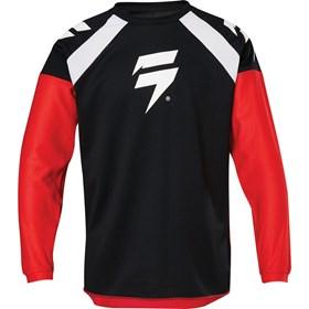 Camisa Shift Infantil Whit3 Race - Vermelho Preto