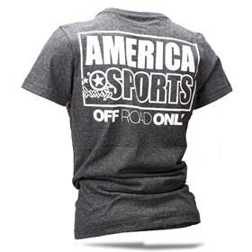 Camiseta AMSP Feminino Off-Road Only - Mescla Chumbo