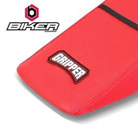 Capa de Banco Biker Gripper CRF 250/450 X 04/14 - Vermelho e Preto