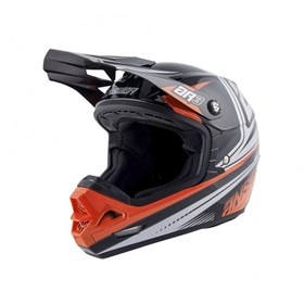 Capacete Answer AR3 Charge - Preto Laranja