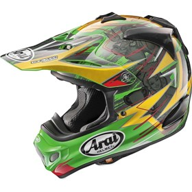 Capacete Arai MX-V Tickle Trophy Girl - Verde