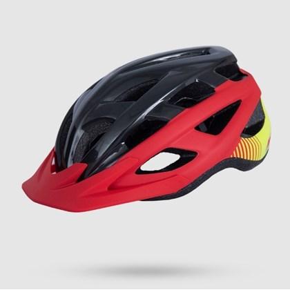 Capacete Asw Bike Fun - Vermelho Preto