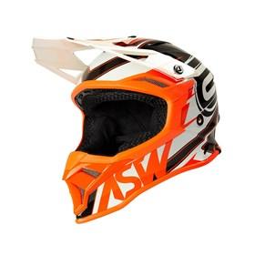 Capacete ASW Fusion 2.0 Blade - Preto Laranja Branco