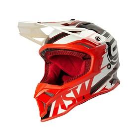 Capacete ASW Fusion 2.0 Blade - Preto Vermelho Branco