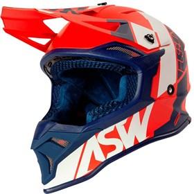 Capacete ASW Fusion 2.0 Seecker - Vermelho Azul Branco