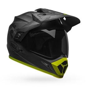 Capacete Bell MX-9 Adventure Mips Stealth - Camo Preto Flúor