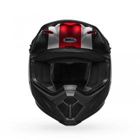 Capacete Bell MX-9 Mips Presence Gloss Preto Branco Vermelho