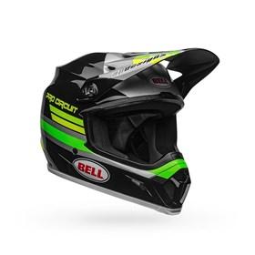 Capacete Bell MX-9 Mips Pro Circuit 2020 - Preto Verde