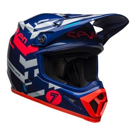 Capacete Bell MX-9 Mips Seven Equalizer Azul Rosa Branco