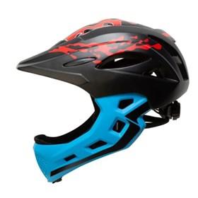 Capacete Bike Infantil Army C/ Queixeira - Preto Azul