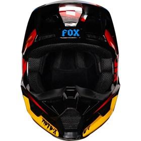 Capacete Fox V1 Infantil - Preto Amarelo